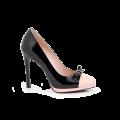 Дамски обувки от естествен лак и кожа  - 1t