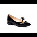 Дамски обувки естествен черен лак - 1t