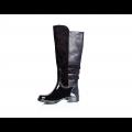 Дамски гумени ботуши с текстил и еко кожа  - 2t