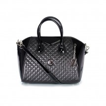 Дамска чанта от естествена кожа и лак YZ-10887