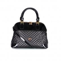 Дамска чанта от естествена кожа и лак YZ-16587