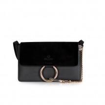 Дамска чанта от естествена кожа и велур GRD-803/1