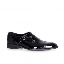 Мъжки официални  обувки от естествен лак CP-6167