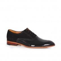 Мъжки официални обувки от естествен лак и велур CP-5291