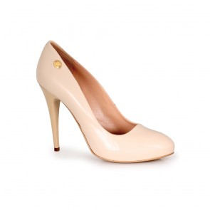 Ladies shoes-leather 1504 beige