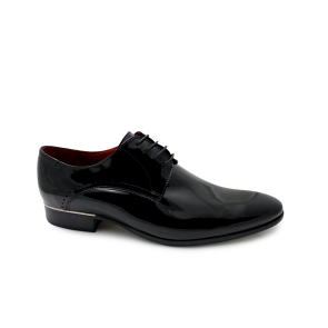 Male elegant shoes made of patent leather  CP-3539 black