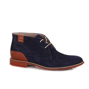 Male suede shoes dark blue CP-3776-