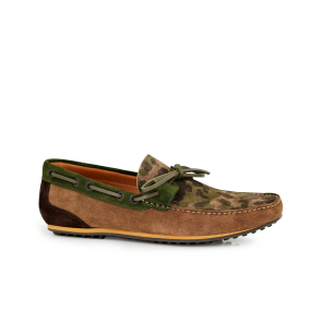 Male moccasins military accent suede AJJS-54/T-730