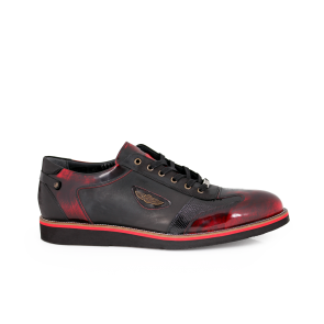 Male leather shoes in red and black MCP-55275