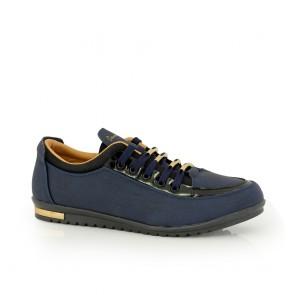 Ladies sports shoes blue eco leather DM- 46415