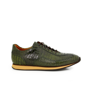 Male sport shoes green crocodile leather МВ-4469-2