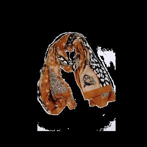 Ladies scarf in beige and brown  13111