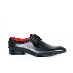 Male shoes leather with black suede  CP-4613
