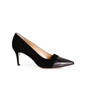 Дамски елегантни обувки от естествен велур и кожа