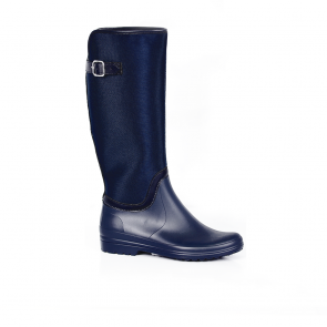 Ladies boots blue rubber and textile MG-204-3
