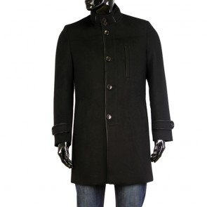 Male black coat wool MP-9366