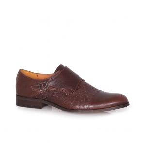 Мъжки обувки от естествена перфо кожа