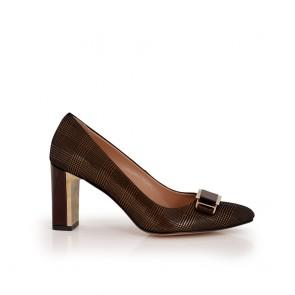 Ladies brown suede shoes brown color NL-12-52