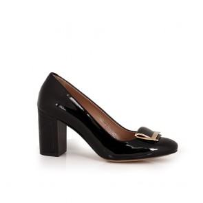 Ladies black patent leather shoes  NL-38-57