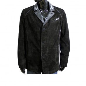 Male jacket made of suede H-1352 black