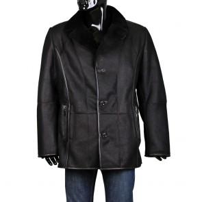 Male leather jacket in black PR-K-656