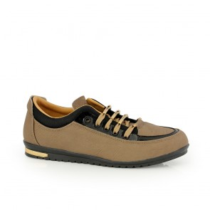 Ladies sports shoes beige eco leather   DM-46415