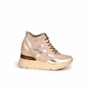 Ladies beige suede shoes H1-15-260