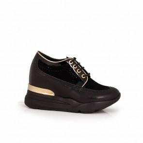 Ladies black leather shoes  H1-15-282/1