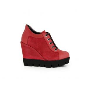 Ladies shoes bordo leather  H1-16-600