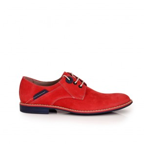 Male shoes red nubuck and leather CP-3831