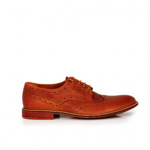 Male casual brown leather shoes CP-3857