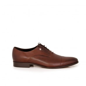 Male brown leather shoes CP-4303