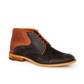 Male boots leather and nubuck  CP-4642-black/brown