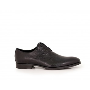 Male black leather shoes CP-5079