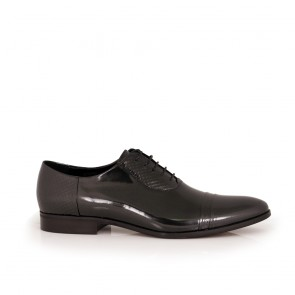 Male black leather shoes CP-5405