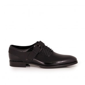 Male black leather shoes CP-5408