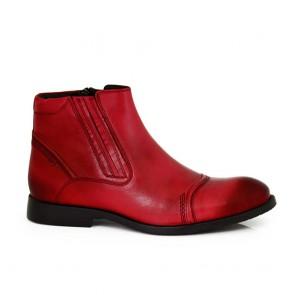 Male bordo leather boots MCP-55635
