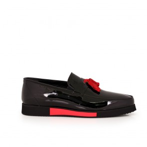 Male black patent leather shoes  MCP-63751