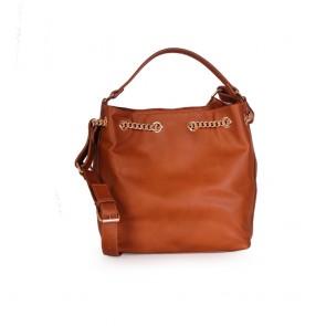 Дамска чанта от еко кожа и велур  - 2